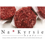 Na*Kyrsie Meats ground beef burger patties